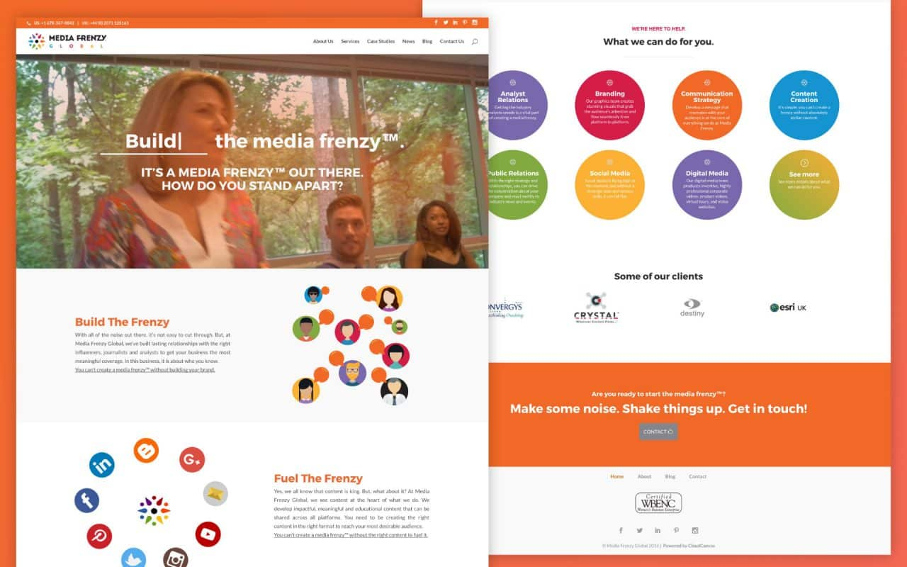 Media Frenzy Global Divi Site