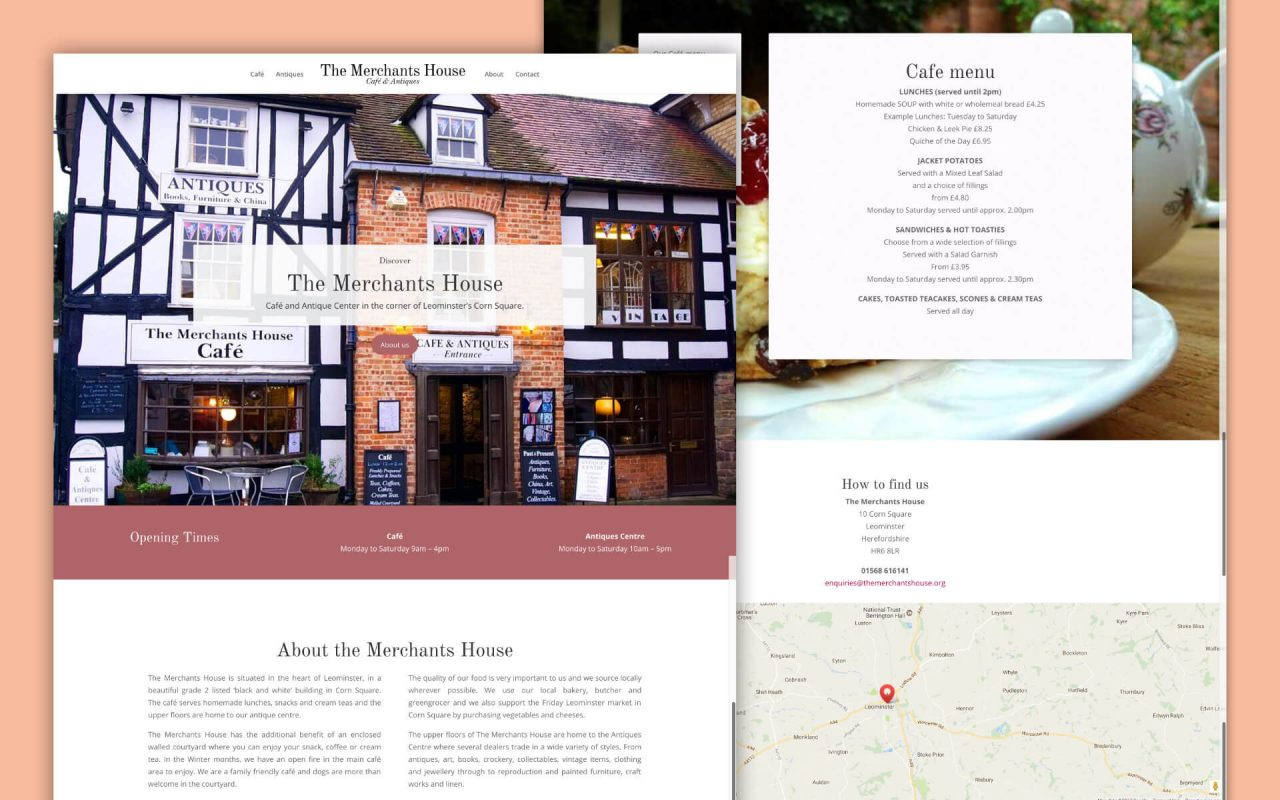 The Merchants House Divi Website