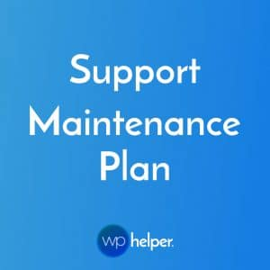 Support Maintenance Plan